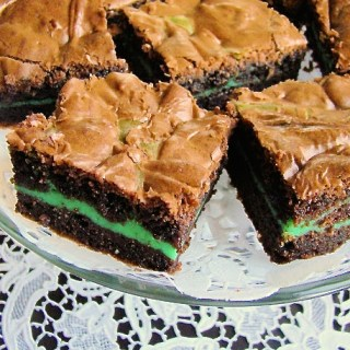 Green Mint Fudgy Brownies