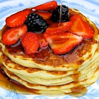 Buttermilk Pancakes with Berries