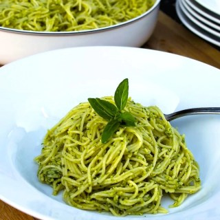 Vermicelli with pesto alla Genovese