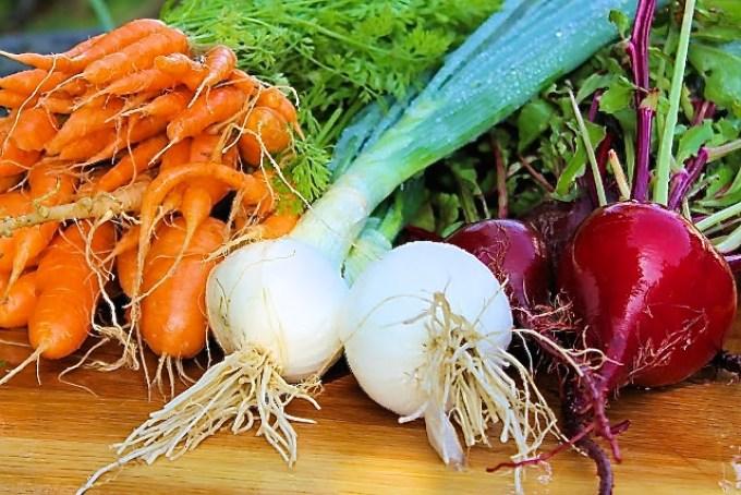 zanahorias, cebollas y remolachas, producto de mi huerta