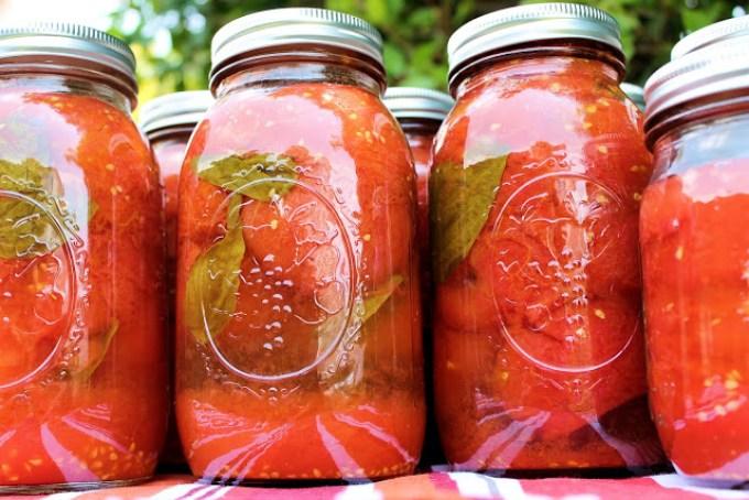 frascos de tomate, tomates envasados, cómo envasar tomates