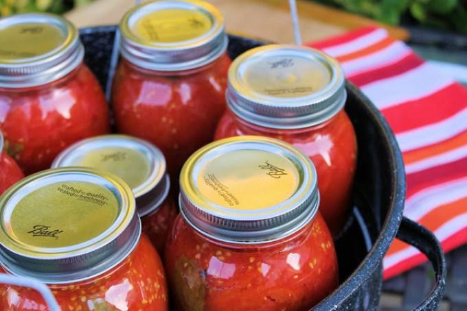 frascos de tomates, cómo envasar tomates