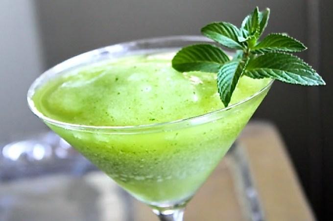 green mojito, frozen mojito. emerald mojito, The Esmeralda Frozen Mojito - SAVOIR FAIRE by enrilemoine