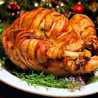 Bacon-Wrapped Roasted Turkey