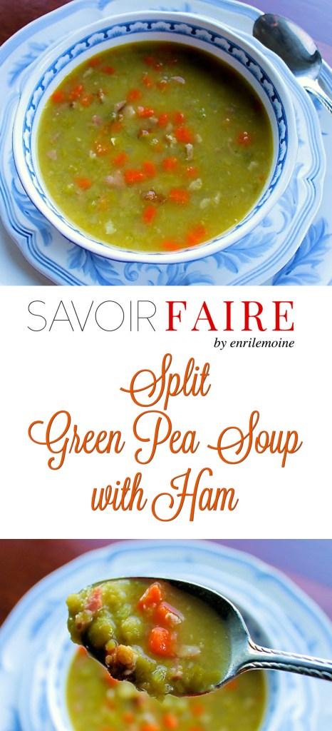 Split green pea soup with ham - SAVOIR FAIRE by enrilemoine