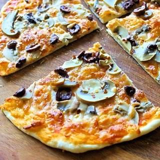 Mushroom and Black Olives Pizza