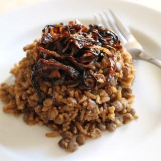 Majadra (lentejas con arroz)