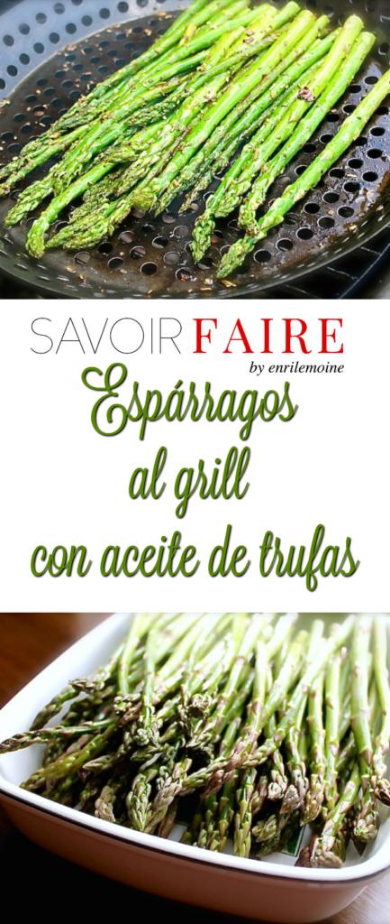 Espárragos al grill con aceite de oliva - SAVOIR FAIRE by enrilemoine