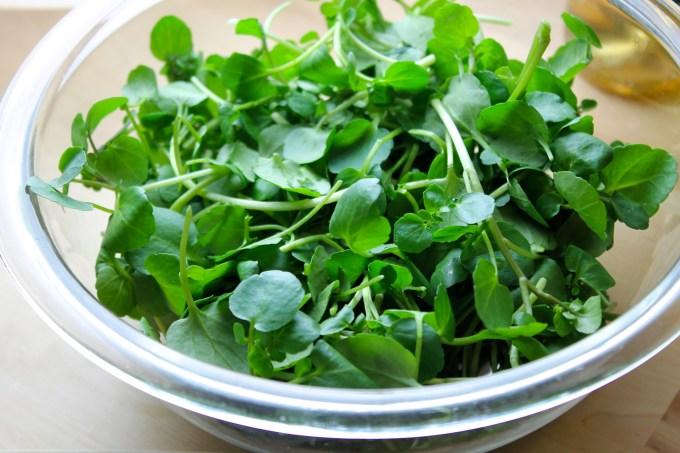 watercress, watercress bowl, watercress & grilled vegetable salad