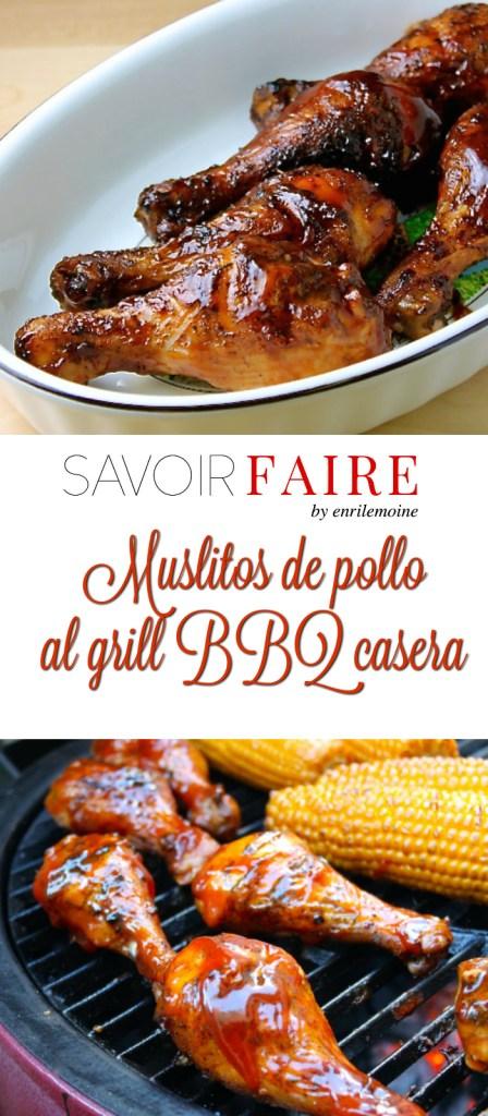 Muslitos de pollo al grill con BBQ casera - SAVOIR FAIRE by enrilemoine