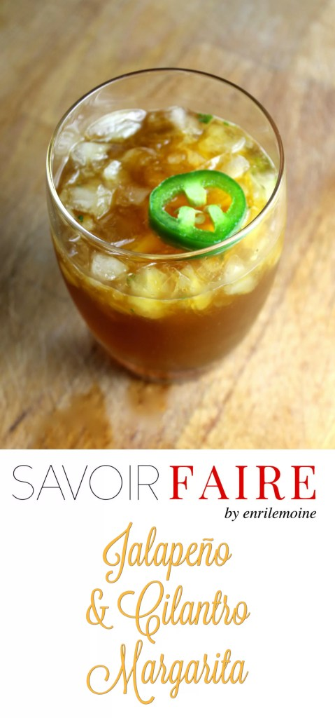 Jalapeno and cilantro margarita - SAVOIR FAIRE by enrilemoine