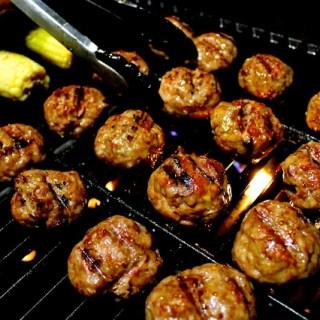 Grilled Pork Meatballs + 3 scrumptious sauces