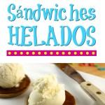 Sándwich helado con Pebbles
