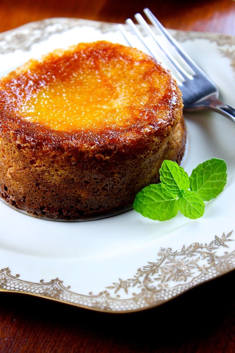 Mini tortas de queso con mermelada de guayaba