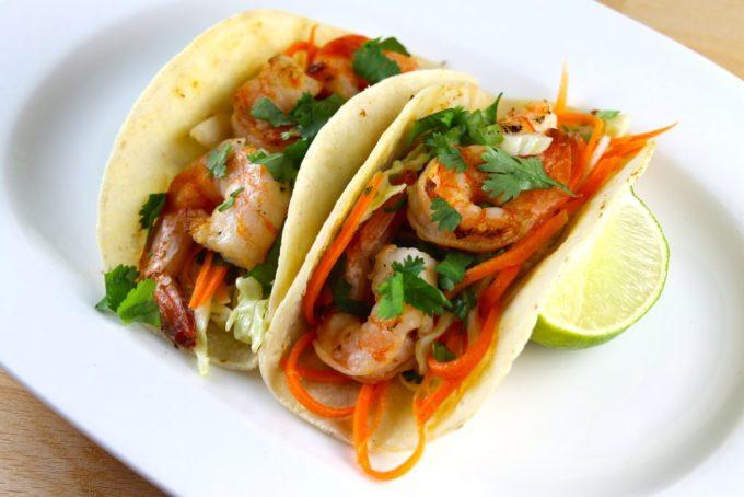 Tacos de langostinos con salda picante - SAVOIR FAIRE by enrilemoine