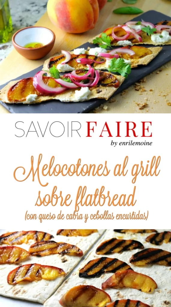 Melocotones al grill sobre flatbread - SAVOIR FAIRE by erilemoine