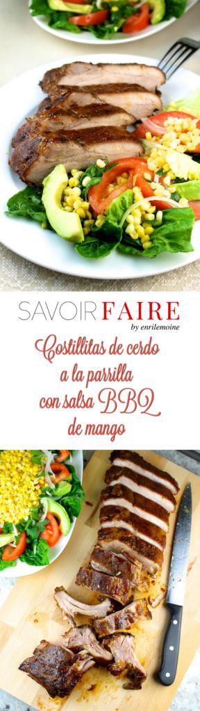 Costillitas de cerdo al grill con salsa BBQ de mango - SAVOIR FAIRE by enrilemoine