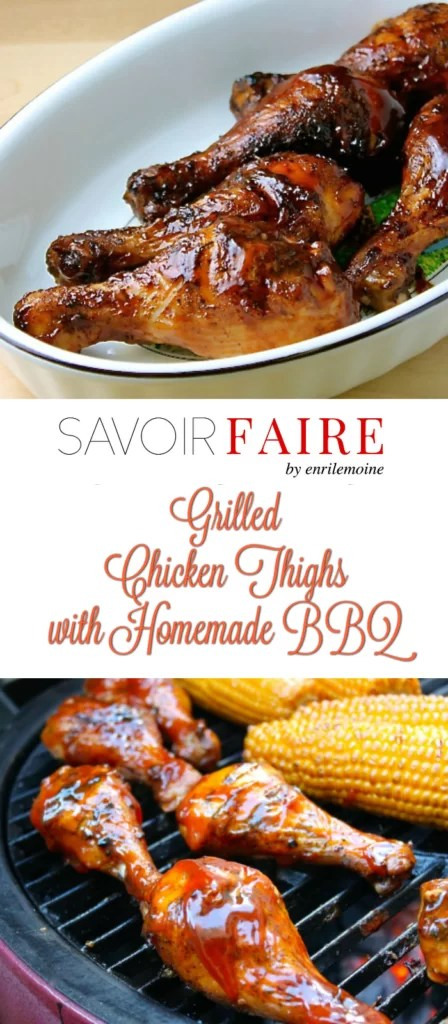 Chicken Thighs with Homemade BBQ Sauce - SAVOIR FAIRE by enrilemoine