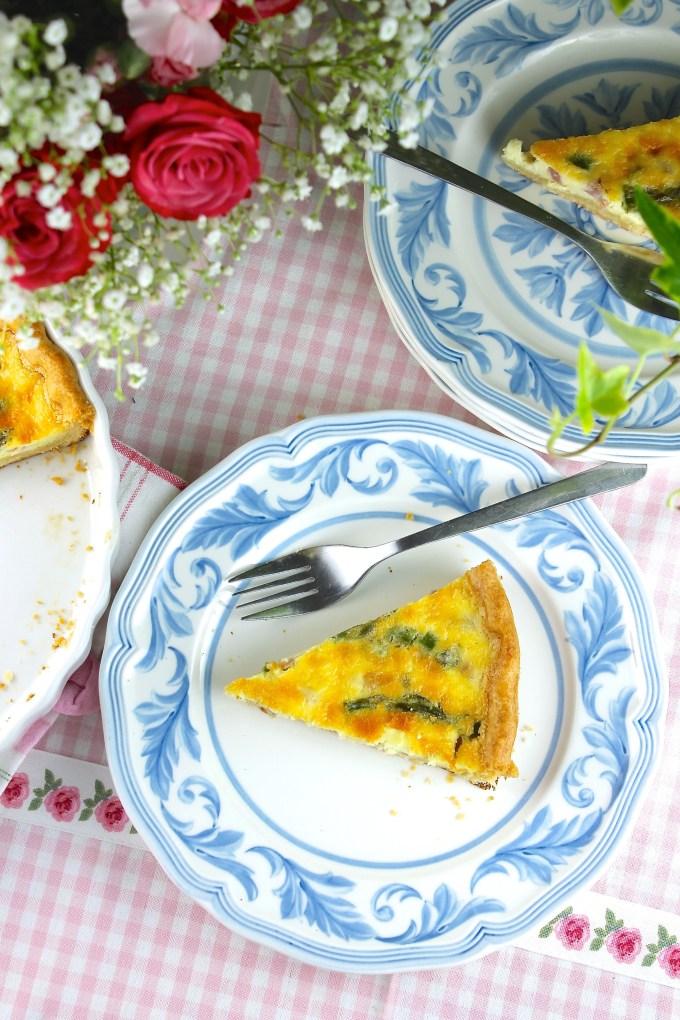 Ham and Asparagus Quiche - SAVOIR FAIRE by enrilemoine