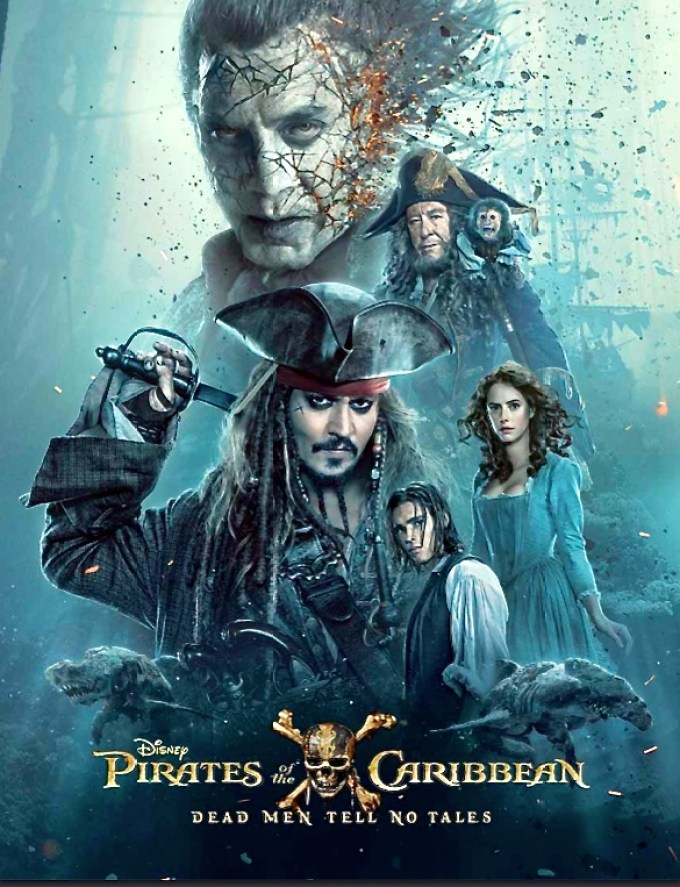 Pirates of the Caribbean Dead Men Tell No Tales Poster, Javier Bardem Pirates of the Caribbean, Johnny Depp Pirates of the Caribbean, Disney Pirates of the Caribbean Poster, Dead Men Tell No Tales poster