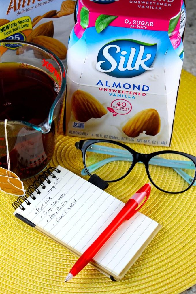 ingredientes para chai con leche de almendras