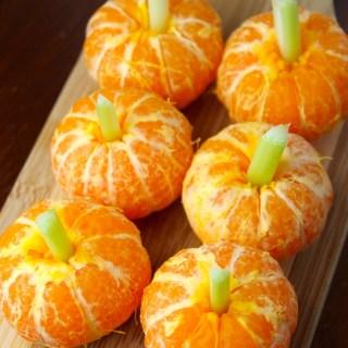 Tangerine Pumpkins for Halloween