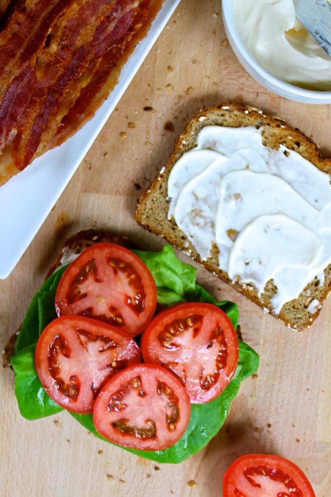 BLT Sandwich in the making