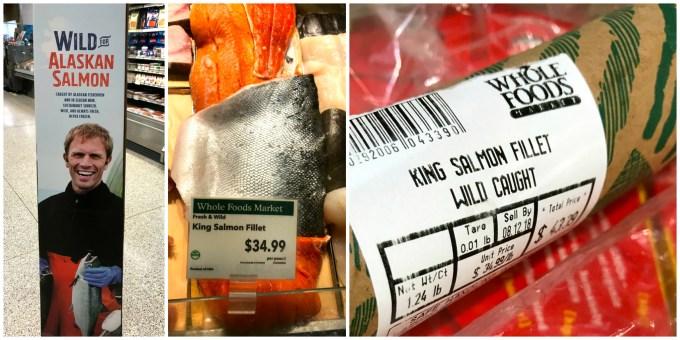 Alaska King Salmon to make honey baked Alaska king salmon
