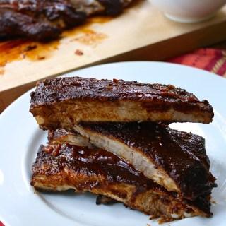 Rum and Mustard BBQ Pork Ribs