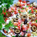 Mediterranean Orzo salad with chévre - SAVOIR FAIRE by enrilemoine