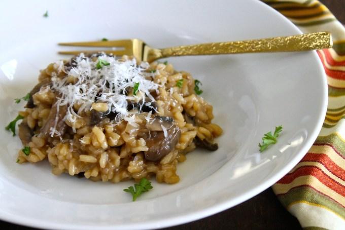 risotto con hongos portobello