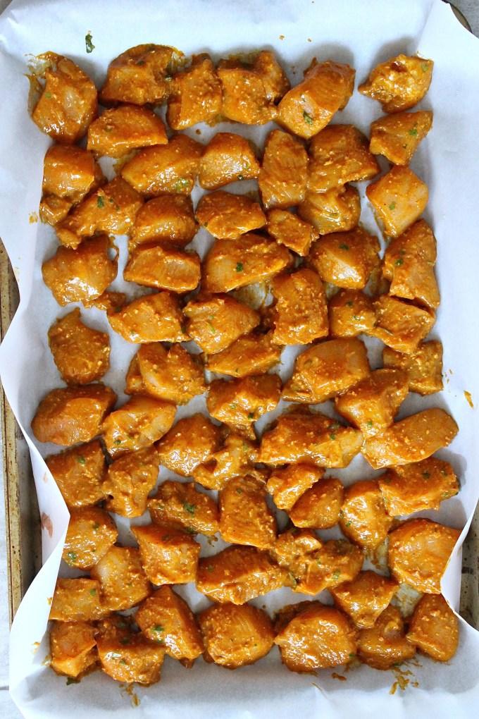 Uncooked chicken tikka by enrilemoine