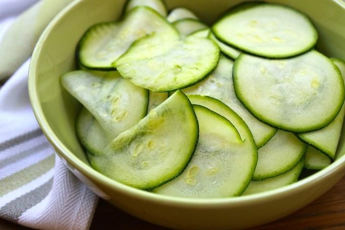 shaved zucchini