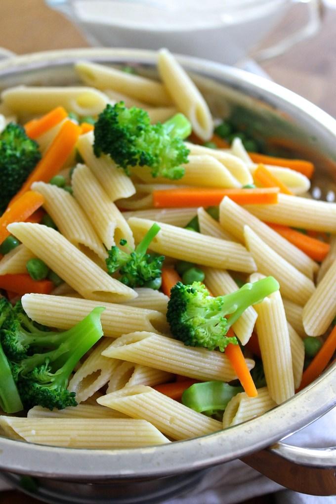 pasta with veggies