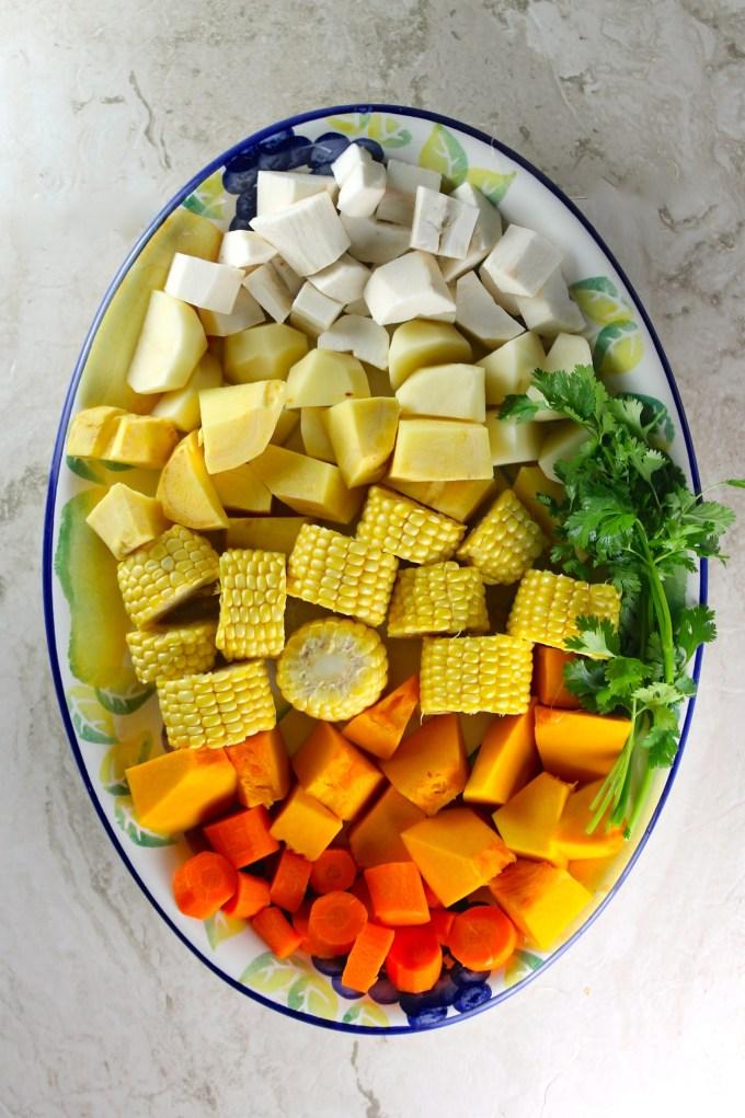 Verduras para hacer sancocho