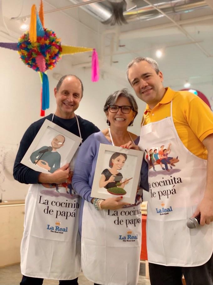 Eli Bravo, Enriqueta Lemoine y José Baig, en la presentación de La cocinita...