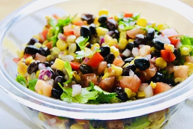 black bean and grilled corn salad