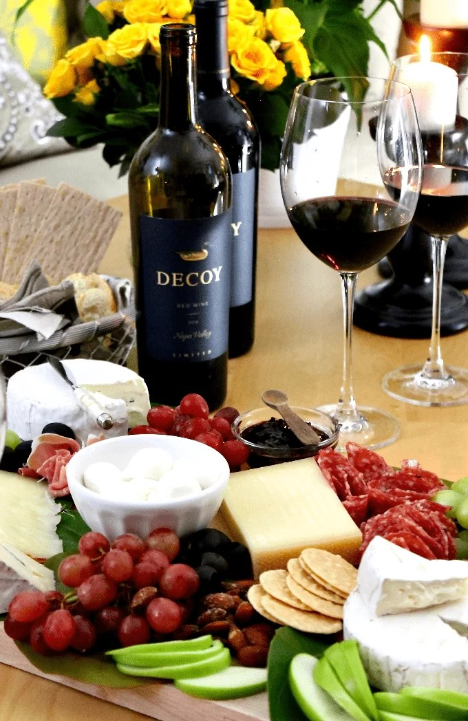 Cheese Board paired with wine