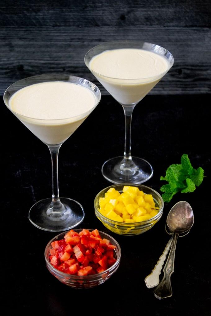 panna cotta martini glasses