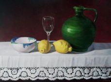 Ceramica y limones.