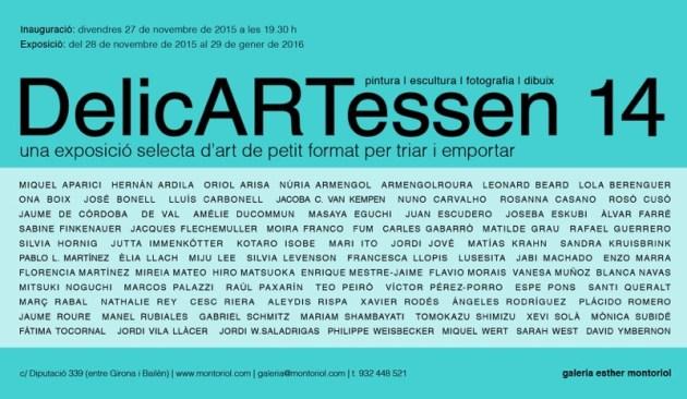 Invitación al 14º DelicARTessen de la Galería Esther Montoriol, de Barcelona.