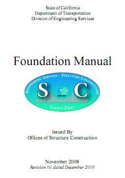 California Foundation Manual CALTRANS