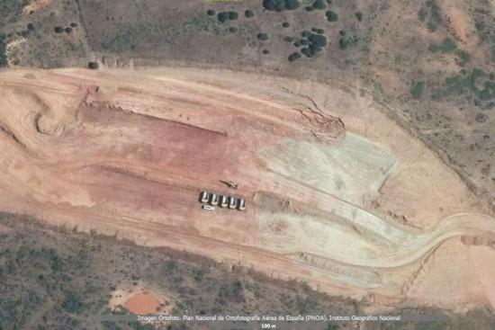 Deslizamiento de tierras entre Coria y Moraleja, Cáceres, en la EX-A1 - Julio 2010