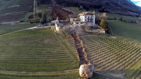 Desprendimiento de rocas en Tramin