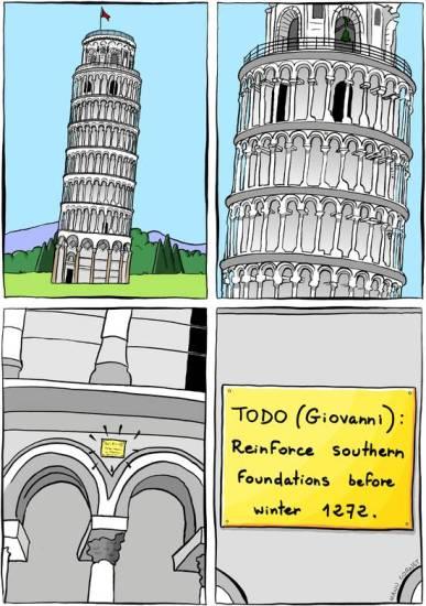 Humor de Ingenieros - Los olvidos geotécnicos se pagan...