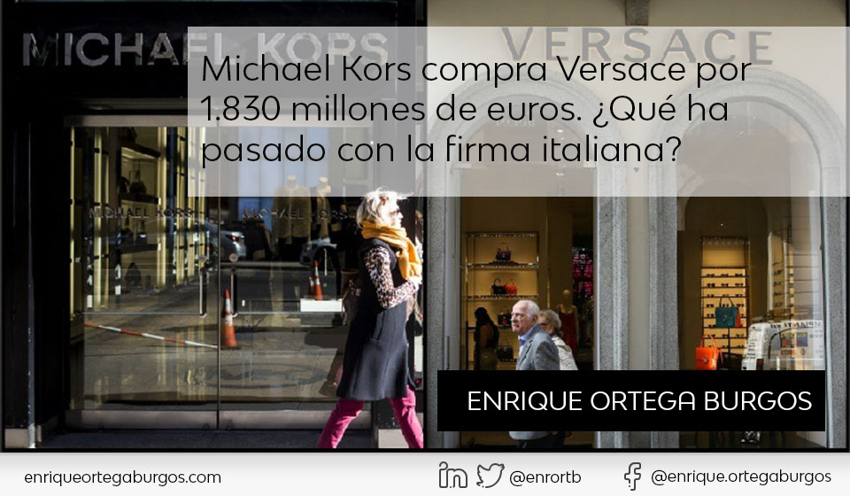 Michael Kors compra Versace por 1.830 millones de euros. ¿Qué ha ... aae2e5c887
