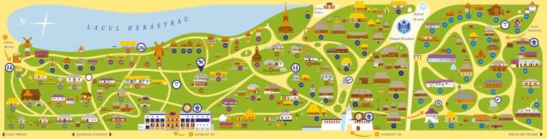 Carte du Musée National du Village de Roumanie.