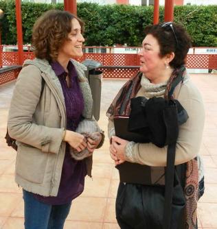 Luisa María Sempere con Cristina Rodriguez Armigen