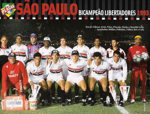 Finales Copa Libertadores Final 1993 - Campeón: San Pablo (Brasil)