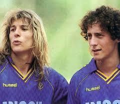 Caniggia y Troglio en Verona - La liga italiana de los 80